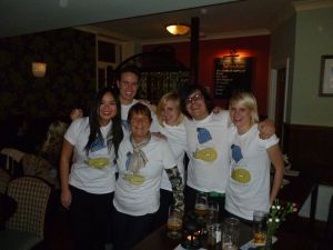 The Limitless team, all the way from London. Dressed in the Adam t-shirt.