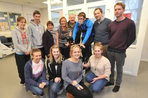 Chris,Jeannet & Emma Savory handed over a cheque to Dr Alan Richardson and his students, who recently went to Peru.